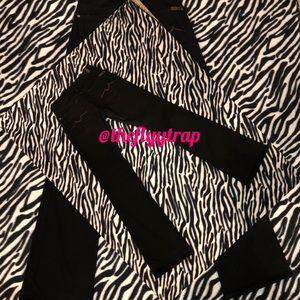 Black 7FAM Jeans w/ Brown Stitching-Bootcut Sz-27